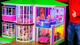 DIY Как сделать своими руками Миниатюрный Кукольный Дом! Кухня и бассейн, спальня, лифт!