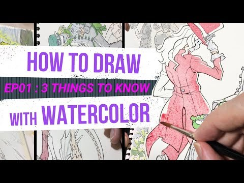 HOW TO DRAW with WATERCOLOR - for beginners - 3 First Things to Know