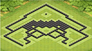Clash of Clans - Town Hall 9 (TH9) BEST War Base 2015 [Anti 2 Stars]