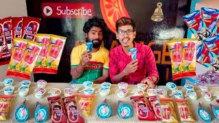 ice cream Eating challenge | food challenge | orange mittai
