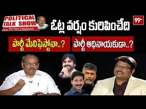 Political Talk Show with Satish Chandar over Elections Manifestos | 99 TV Telugu