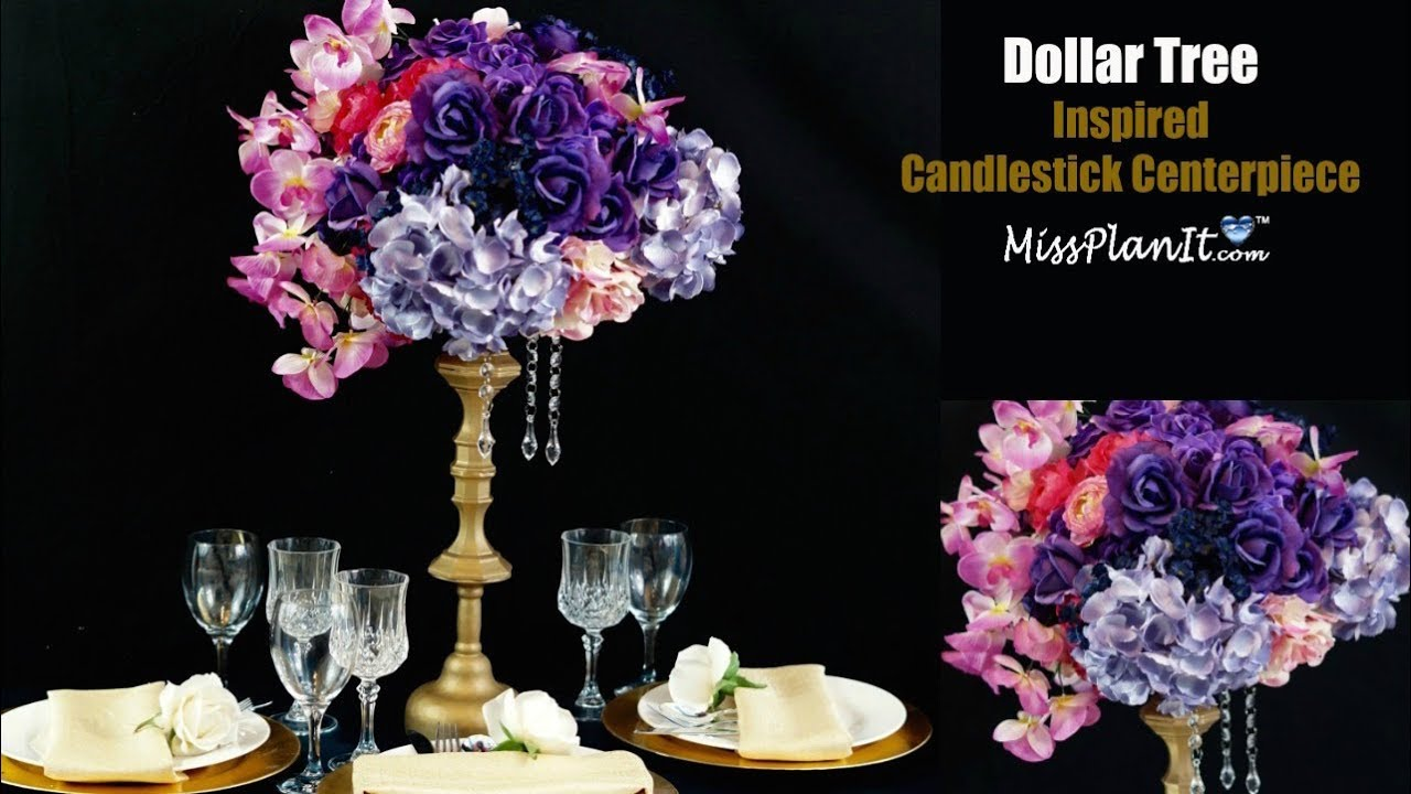 Dollar tree inspired candlestick centerpiece diy tall