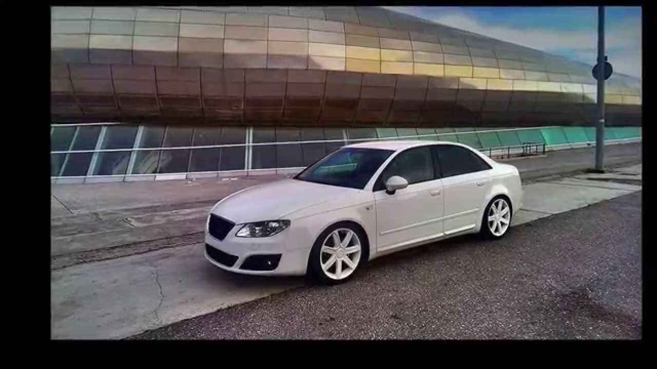 seat exeo white power sport tuning lower youtube