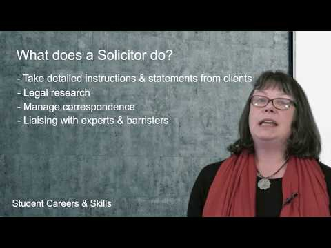 What does a Solicitor do? (Routes into Law)