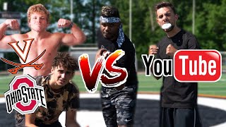 D1 ATHLETE VS. YOUTUBERS SKILLS CHALLENGE!! (ft. YaBoiAction)
