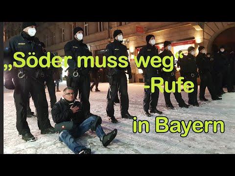 """Demo-Auflösungen, Festnahmen und, """"Söder muß weg""""-Rufe"""