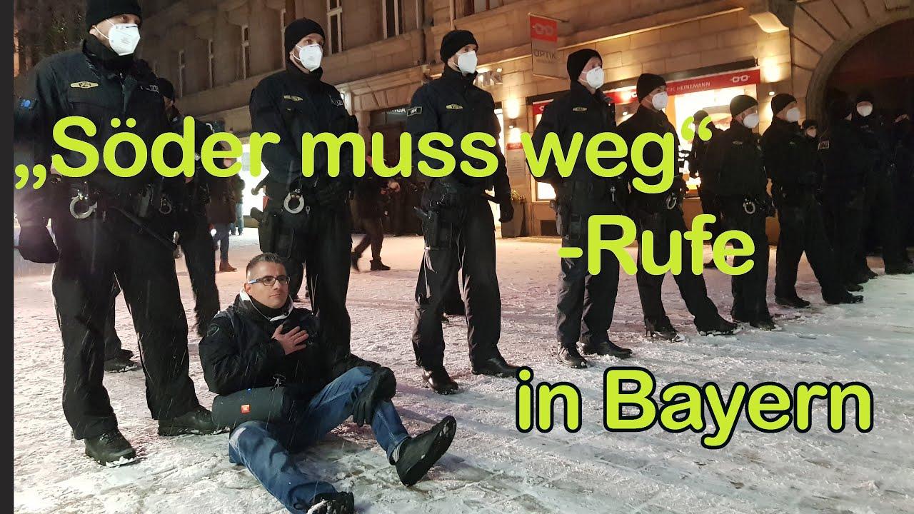 """Demo-Auflösungen, Festnahmen und, """"Söder muß weg""""-Rufe: Was Sie bei ARD und ZDF nicht sehen werden!"""