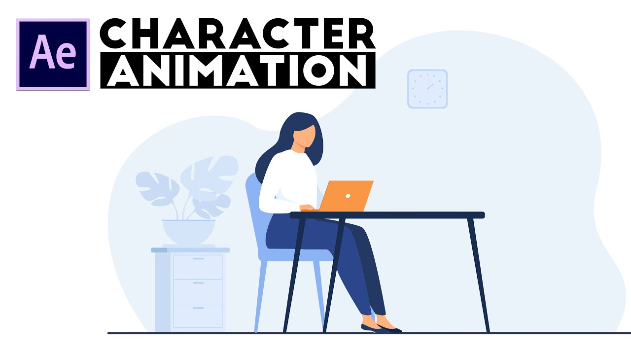 Easy Character Animation Tutorial without using Single Key Frame   After Effects Tutorial