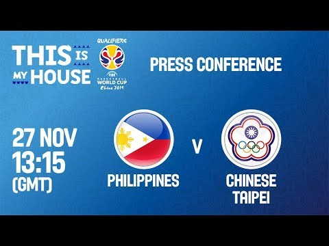 Philippines v Chinese Taipei - Press Conf - FIBA Basketball World Cup 2019 - Asian Quali