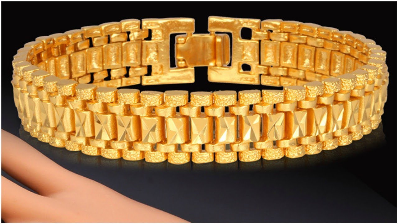 Latest Men Gold Bracelet Designs Jewellery With Weight