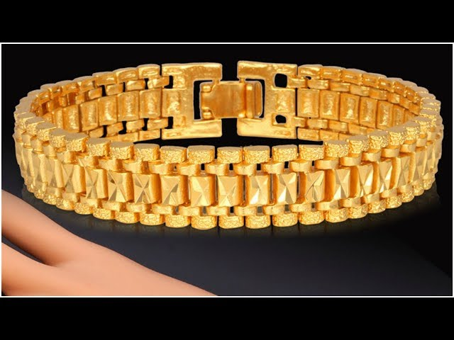 Latest men gold bracelet designs || Latest gold jewellery designs with weight