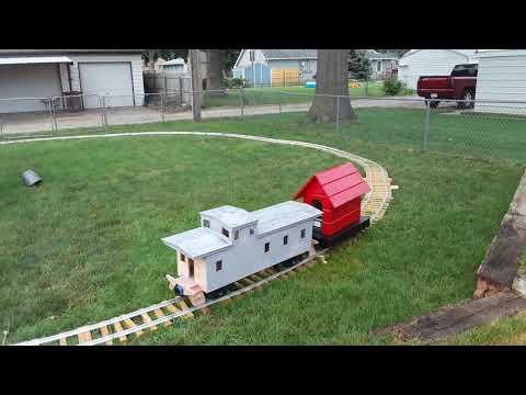 Ride on Backyard Railroad Tour - YouTube
