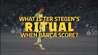 See what Ter Stegen does every time Barça find the net