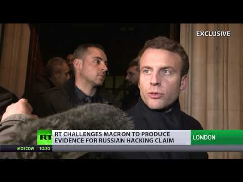 'We have evidence of [hacking] attacks from Ukraine & Russia - Macron