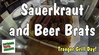 Video Sauerkraut and Beer Brats On The Traeger Grill | Cooking With Rob | #traegergrill #sauerkraut download MP3, 3GP, MP4, WEBM, AVI, FLV Oktober 2018