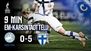 Full Highlights (9 min.) | Kypros - Suomi 0-5 | UEFA Women's EURO 2022 -karsinnat | 23.2.2021