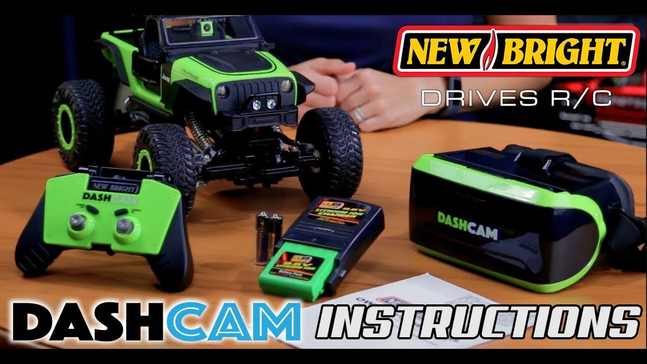 New Bright R C Dashcam 1 14 Jeep Trailcat Instructions Youtube