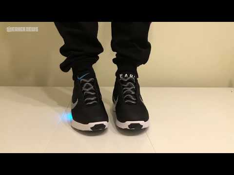 Self-lacing Nike Hyperadapt Unboxing & Try-on