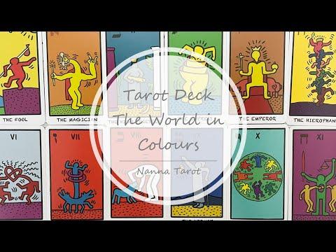 開箱  彩色世界塔羅牌 • Tarot Deck The World in Colours  // Nanna Tarot
