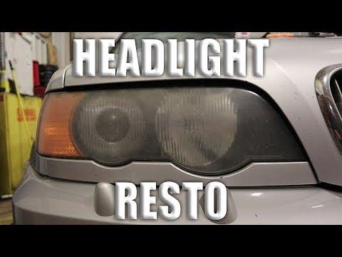 BMW X5 Headlight Restoration!!!