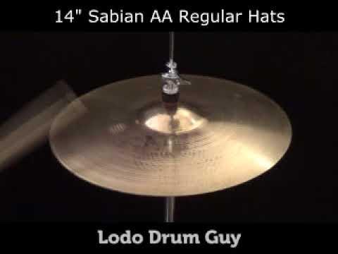 "SOLD OUT 14"" Sabian AA Regular Hats hi hat set"