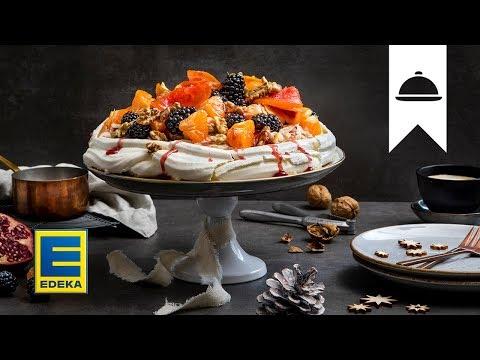 Weihnachts-Pavlova | Winterliche Baiser-Torte mit Früchten | EDEKA