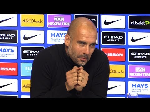 Pep Guardiola Pre-Match Press Conference - Manchester City v Crystal Palace - Embargo Extras