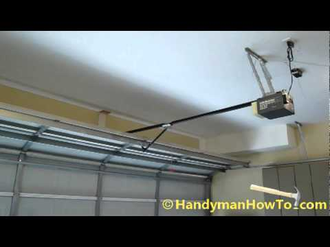 Noisy Chain Drive Garage Door Opener Demonstration Youtube