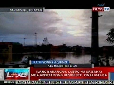 NTVL: Ilang barangay sa San Miguel, Bulacan, lubog na sa baha