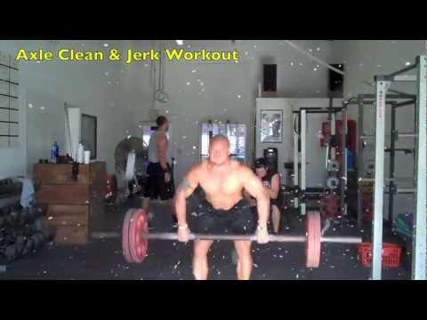 Strongman Training, Axle Clean and Jerk