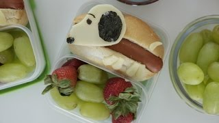 How to Make a Snoopy Hot Dog Bento Box  Eat the Trend