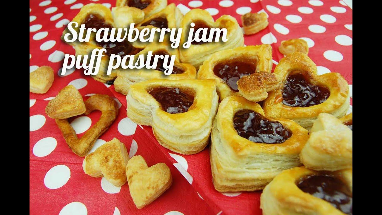 Strawberry Jam Puff Pastry YouTube