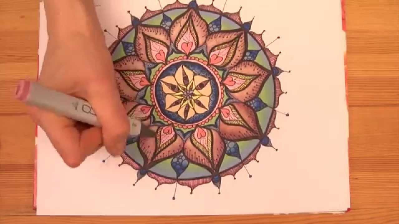 Intuitives Mandala Malen Ein Mandala Wird Bunt Gemalt Soulart