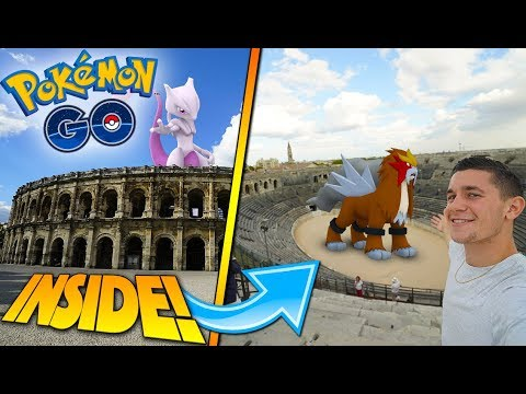 POKÉMON GO IN AN ANCIENT ROMAN COLOSSEUM! EXPLORING NÎMES + DRUNK GUY ASKS FOR DRUGS?