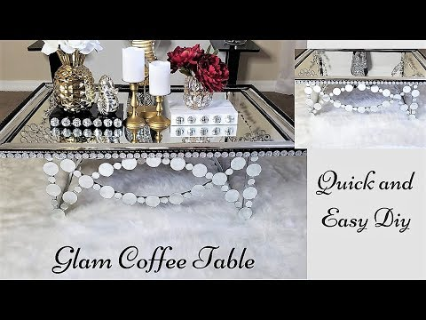 Mirror Coffee Table & Rug| Quick, Easy and Inexpensive Home Decor Ideas!