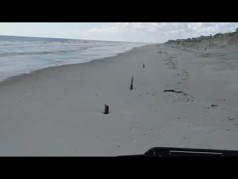 Oak Island, NC Beach After Hurricane Florence