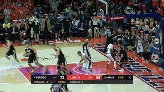 Carsen Edwards Slam Dunk vs. Illinois