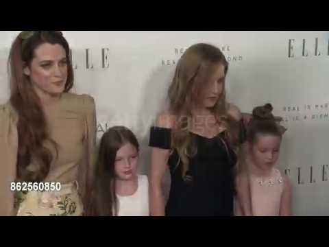 Lisa Marie Presley & Riley Keough and twins at the 24th Annual ELLE Women