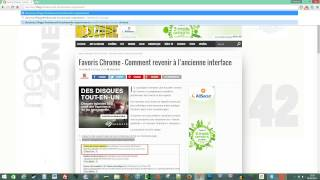 Favoris Chrome – Comment revenir à l'ancienne interface