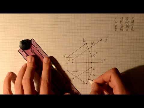 Нахождение точки пересечения прямой и треугольника