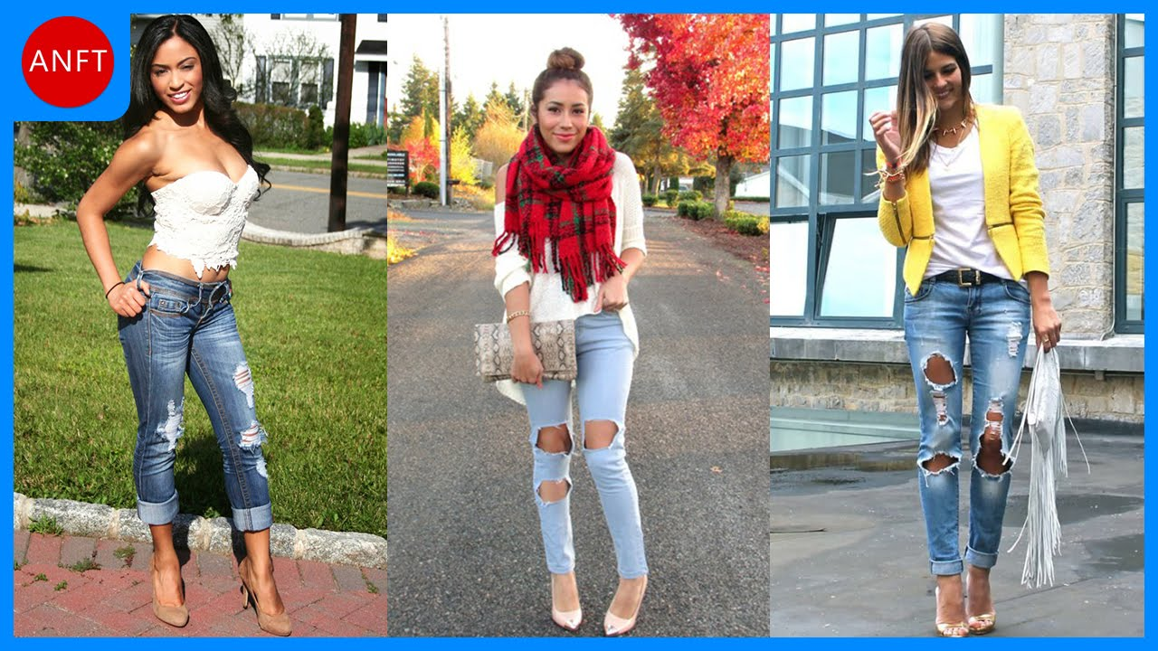 What to wear with ragged jeans. With what shoes to wear ripped jeans