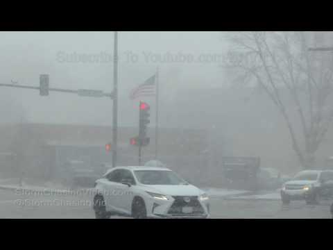 Northern Chicago And Metro Heavy Snow Showers - 3/13/2018