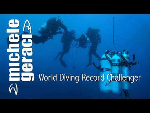 Michele Geraci World Diving Record Challenger 2014