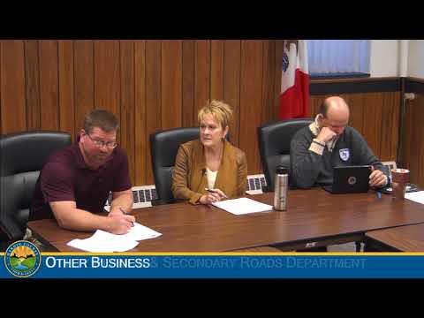 Hardin County Board of Supervisors Meeting 10-25-2017