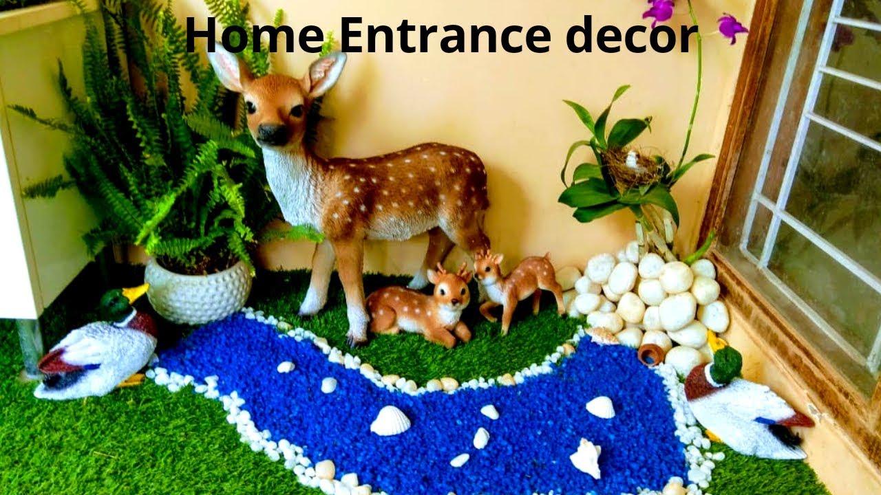 Home Entrance Make Over Jungle Theme Unique Home Decoration Ideas Youtube