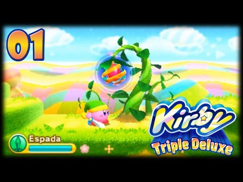 Kirby Triple Deluxe [3DS] - Cap 1 Floresta Frondosa