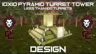 10x10 PYRAMID TURRET TOWER DESIGN! [TUTORIAL] | ARK: Survival Evolved