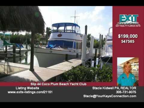 100 Ave I Boat Slip and Boat for sale Marathon FL Keys--Real Estate for sale