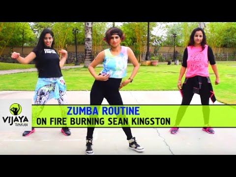 Zumba Routine on Fire Burning Sean Kingston |...