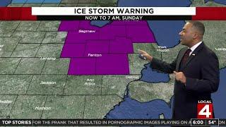 Metro Detroit weather forecast: Dangerous rain, ice storm develops Saturday